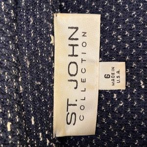 St. John Jackets & Coats - ST.JOHN BROWN Navy Blue Jacket SIZE 6